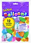 SQUIGGLY SHAPED BALLOONS 12 CT.
