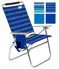DELUXE ALUMINUM 4 POSITION BEACH CHAIR