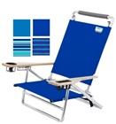DELUXE ALUMINUM 5 POSITION SAND CHAIR