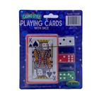 PLAYING CARDS AND 6 PCS DICE